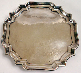 Augustine Courtauld silver waiter, Britannia standard