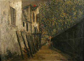 Maurice Utrillo original Montmartre, Paris painting