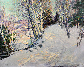 Thomas R. Curtin painting - A Vermont Winter