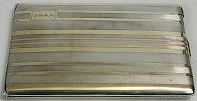 Tiffany ad Co. sterling silver 14kt cigarette case