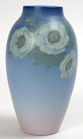 Rookwood Pottery vellum glaze vase, Ed Diers, 1928